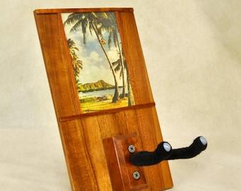 Hawaiian Koa Ukulele Hanger: Palm Tree