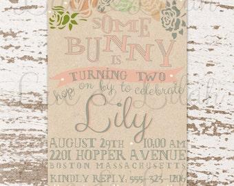 Some Bunny's Birthday - Bunny Party Invitation / Bunny Party