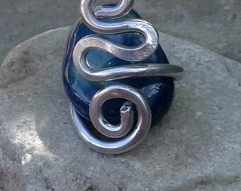 Funky Aluminum Handmade Spiral Adjustable Ring