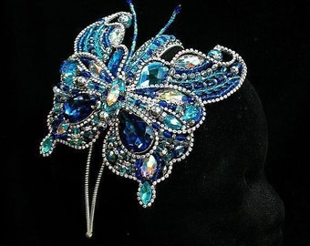heavenly nymph-luxurious butterfly with rhinestones on the headband