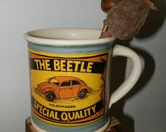 Handmde Cofee/Tea Ceramic mug - The Beetle - Special Quality