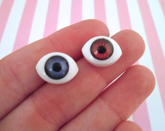Blue or Brown Doll Eye Cabochons, Super Realistic Cabs, #718