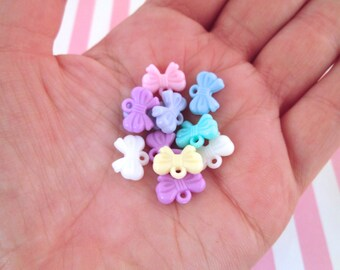 Pastel Fairy Kei Bow Charms, Pick Your amount, #506