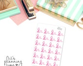 Breast Self Exam Reminder Planner Stickers- 24 count