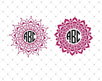 Mandala Monogram Frame SVG Cut Files, Mandala SVG Cut Files for Cricut, Silhouette and other Vinyl Cutters, svg files