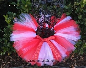 Valentine's Day Tutu/ Red and White Tutu/ Christmas Tutu/ Candy Cane Tutu/ Newborn - 5T Tutu
