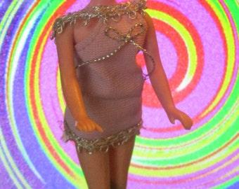 Groovy 1970's Topper Dawn JESSICA Doll wearing Lavender Mini!
