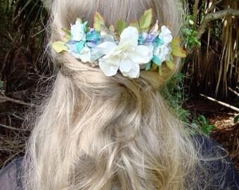 Mermaid Comb // Large Floral Hair Comb