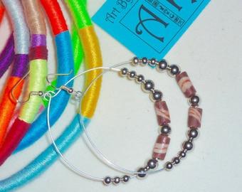 African bead hoop earrings - various options