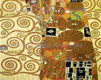 "Gustav Klimt ""Fulfillment"" 1909 Reproduction Digital Print Home Decor Art Nouveau"