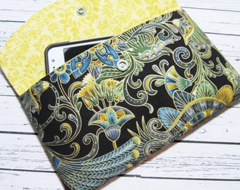 Tassel's Smartphone Clutch Wallet, iPhone Wallet Clutch, Women's Fabric Clutch Wallet, iPhone Clutch, Cell Phone Holder Case