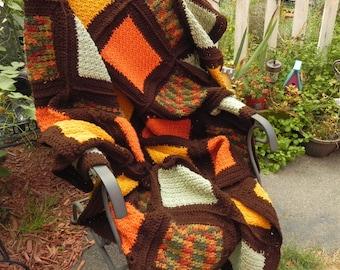Rustic Patchwork Afghan Blanket