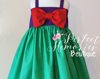 Little Mermaid Dress | Ariel Dress | Girls Mermaid Dress | Toddler Mermaid Dress | Little Mermaid Birthday Party | Baby Mermaid | Mermaids