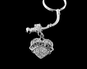 grooms mom keychain grooms mom jewelry Grooms mom gift Grooms mom key chain jewelry best jewelry gift