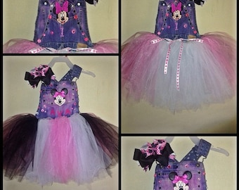 Minnie Mouse Overall Tutu