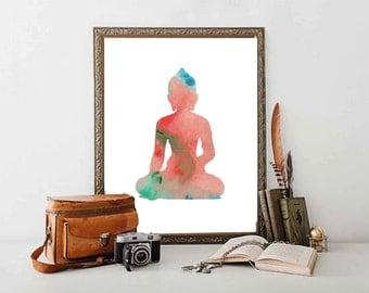 Buddha Poster Print // Meditation Buddha Wall Art //  Buddha Meditation Wall Decor // Serenity Decor // Spiritually Buddha Wall art