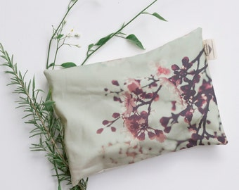 Cherry Blossom 2 Relaxation Pillow, Heat Pack. Microwavable and Washable Heat Bag.