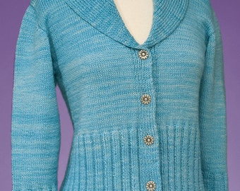 Simple Cardigan #168 PDF knitting PATTERN ONLY