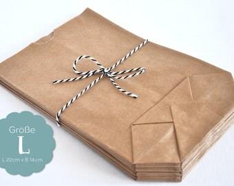 20 paper bags kraft paper L