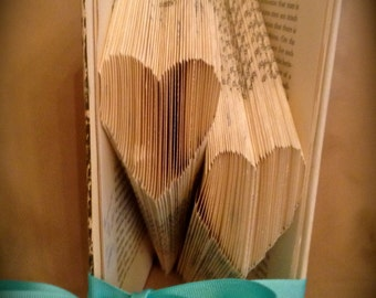 Folded Book-Art Heart Sculture