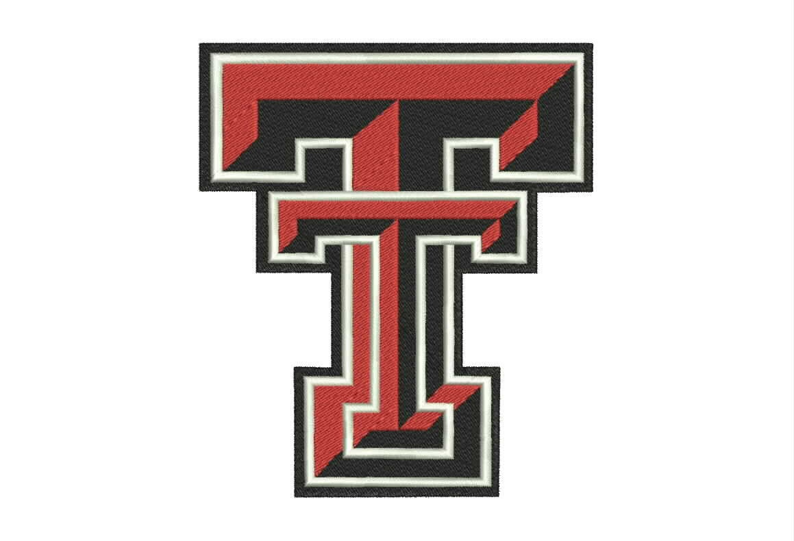 Texas tech logo machine embroidery designs college by