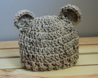 Crochet Teddy bear hat |Made to order| Sizes: Newborn, 3-6 months, 6-12 months, Toddler, Child & Adult