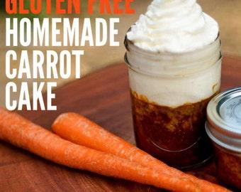 Gluten-Free Homemade Carrot Cake in a Jar!!