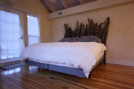 Driftwood Headboard For Twin Full Queen Or King Sized Bed