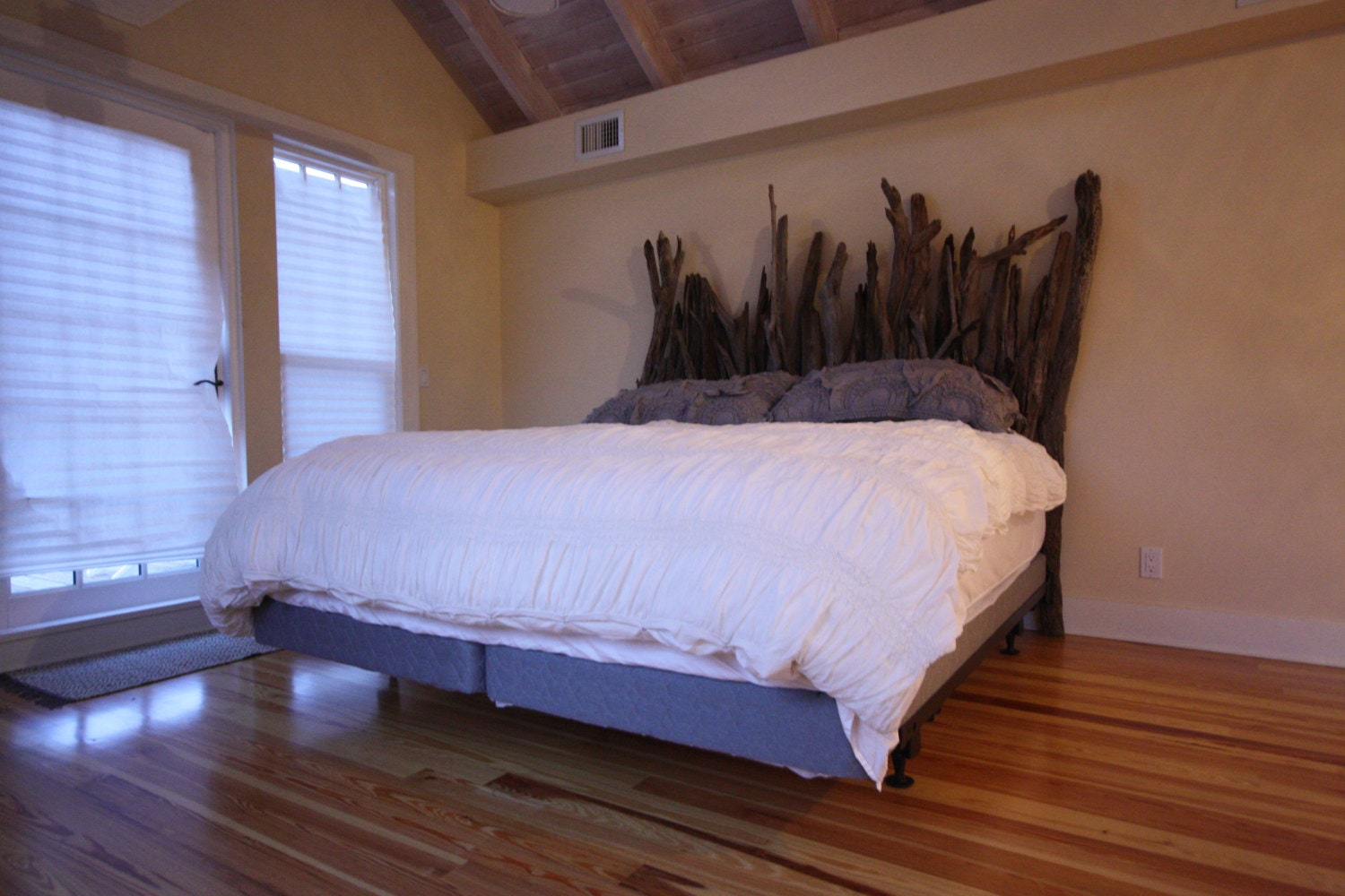Driftwood Headboard For Twin Full Queen Or King-sized Bed