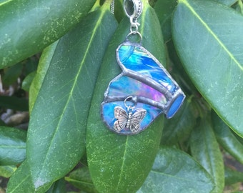Handmade Iridescent Stained Glass Butterfly