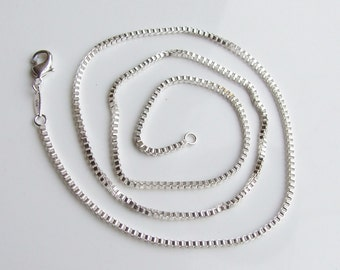 Vintage 925 Sterling Silver 22 Inch Chain Necklace