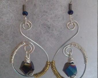 Silver & Brass Earrings