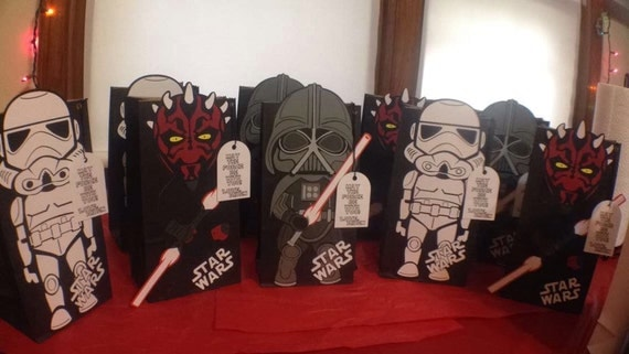 Star Wars Goody Bags Birthday This Listing Is For 10 Are As Followed Unless Requested Otherwise 4 Darth Vader 3 Storm Trooper