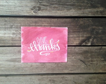 Canvas Painting | Give Thanks