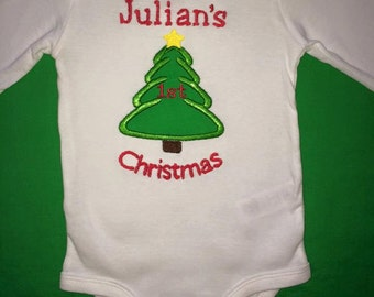 First Christmas Tree Personalized Onesie