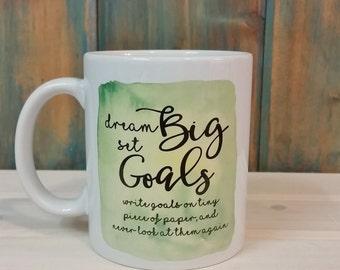Funny coffee mug, office coffee mug, watercolor mug, unique mug, green mug, custom mug, dishwasher safe coffee mug