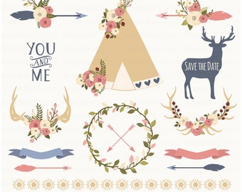 Rustic Clipart Antlers