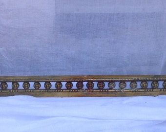 Stunning antique French Louis XVI brass - bronze fireplace andirons - chenets - dogs - fender