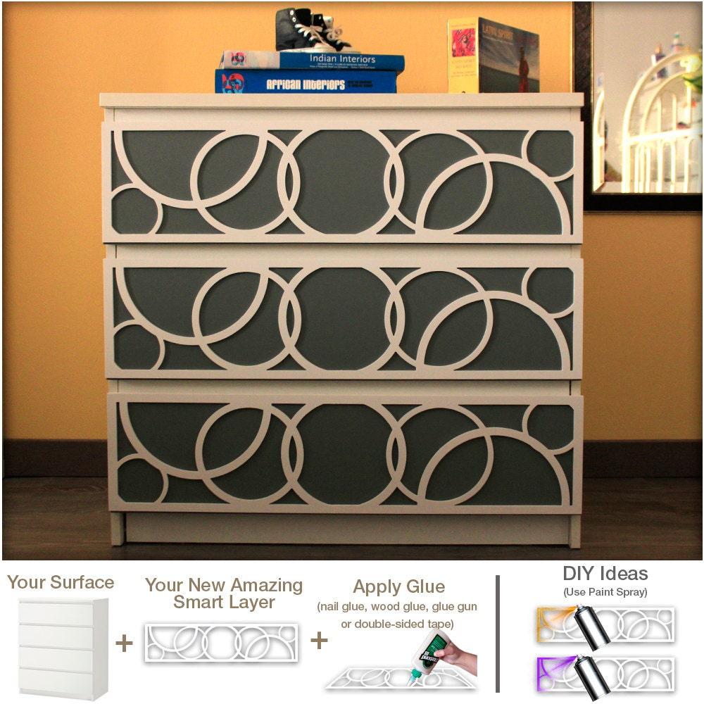 DIY Overlays Furniture Appliques Makeover Fretwork