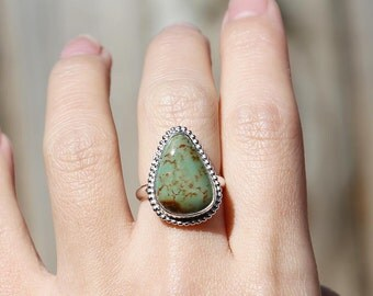 Kings Manassa Ring, turquoise ring, silver ring