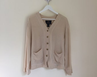vintage 90's The Limited 100% silk cardigan