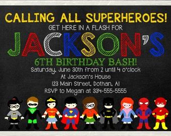 Superhero Invitation, Superhero Birthday Invitation, Super Hero Invitation, Superheroes Invite, Superhero Invite, Superhero Birthday Invite