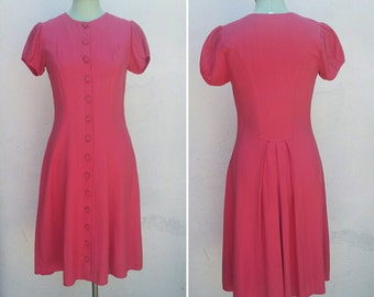 1940/1950's Button Down Swing Dress Handmade For Repair