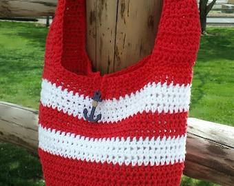 Crochet beach bag | Etsy