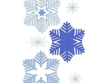 Machine Embroidery Design Frozen Snowflake Trio