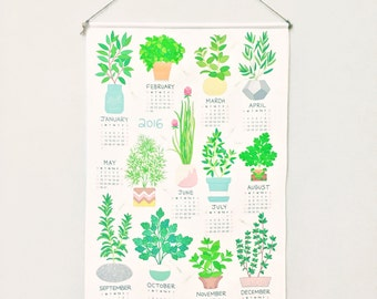 2016 HERBS Tea Towel Calendar