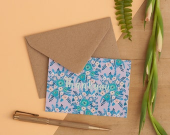 Set of 6 Mini cards | Patterned A7 Thank you Cards | Notecard Set | Correspondence | Mini Cards | A7 Cards | Thank you Card | Thanks