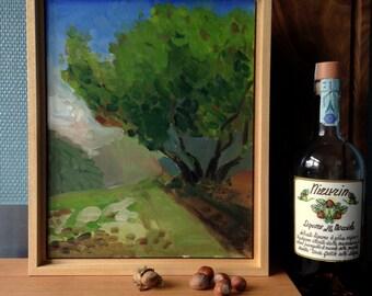 Oil-painting hazelwood