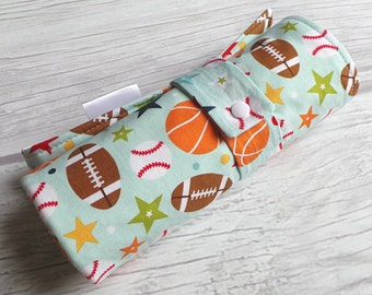 Baby Boy Travel Changing Pad / Roll-up Diaper Changing Pad / Padded with Waterproof Lining / Sports Baby