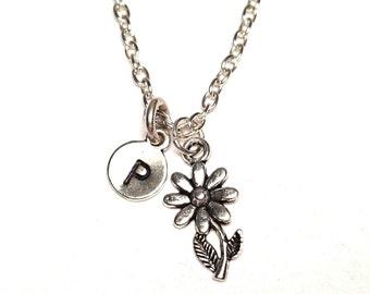 Flower Necklace, Flower Jewelry, Flower Charm, Flower Pendant, Daisy Necklace, Daisy Flower Jewelry, Daisy Pendant, Daisy Charm, Gardener